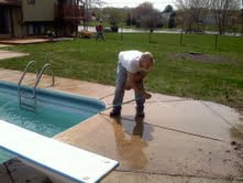 save your back, let our guys clean your deck