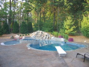 Gunite Pool in Highland Finished with Pebble