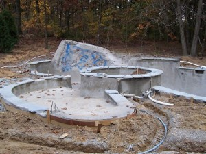 Hartland MI Pool Gunite Under Construction