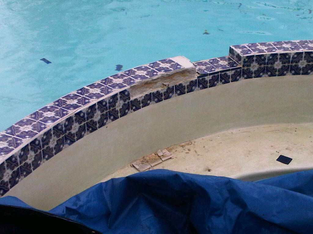 Tile Renovations on a swimming pool in Michigan