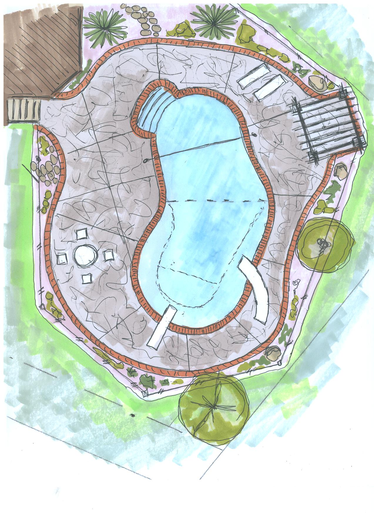 South lyon pool designs by legendary escapes pools for Pool design drawings