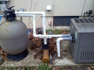 Pool System with a Top Mount Multi Port Valve