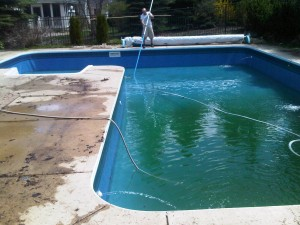 Pool Opening in Progress: Pietila Pools Services