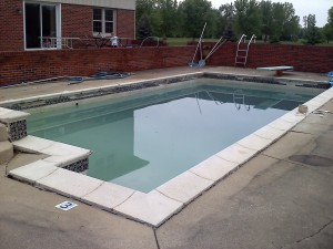 gunite pool in need of renovation as quoted by Pietila Pools Services