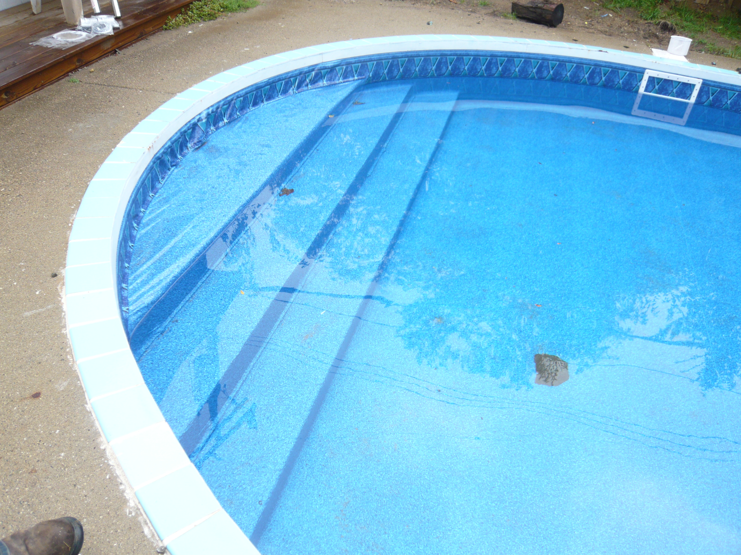 Liner job 2011 done by pietila pools services for Pool liners