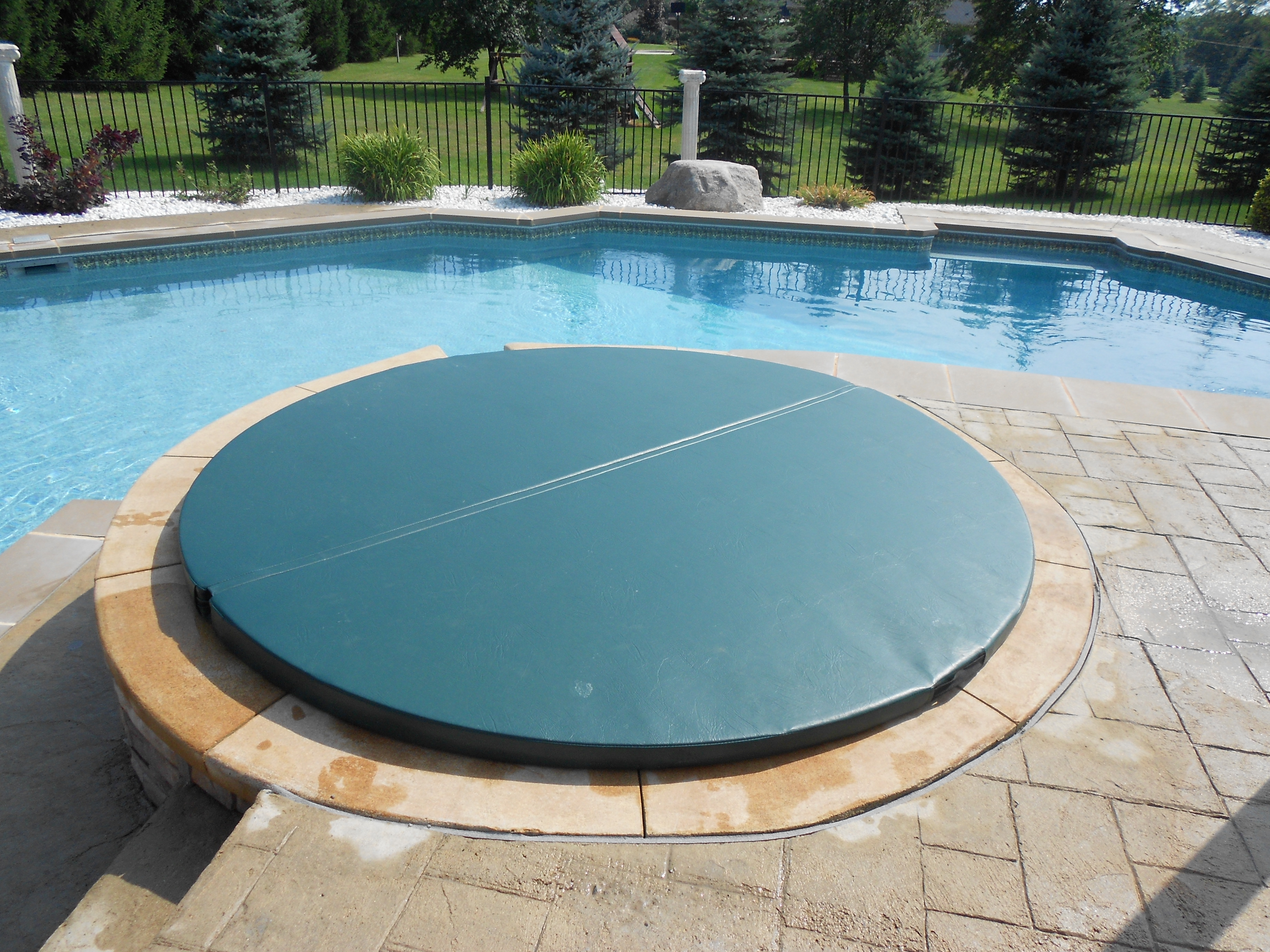 In Ground Hot Tub Covers - Round Designs