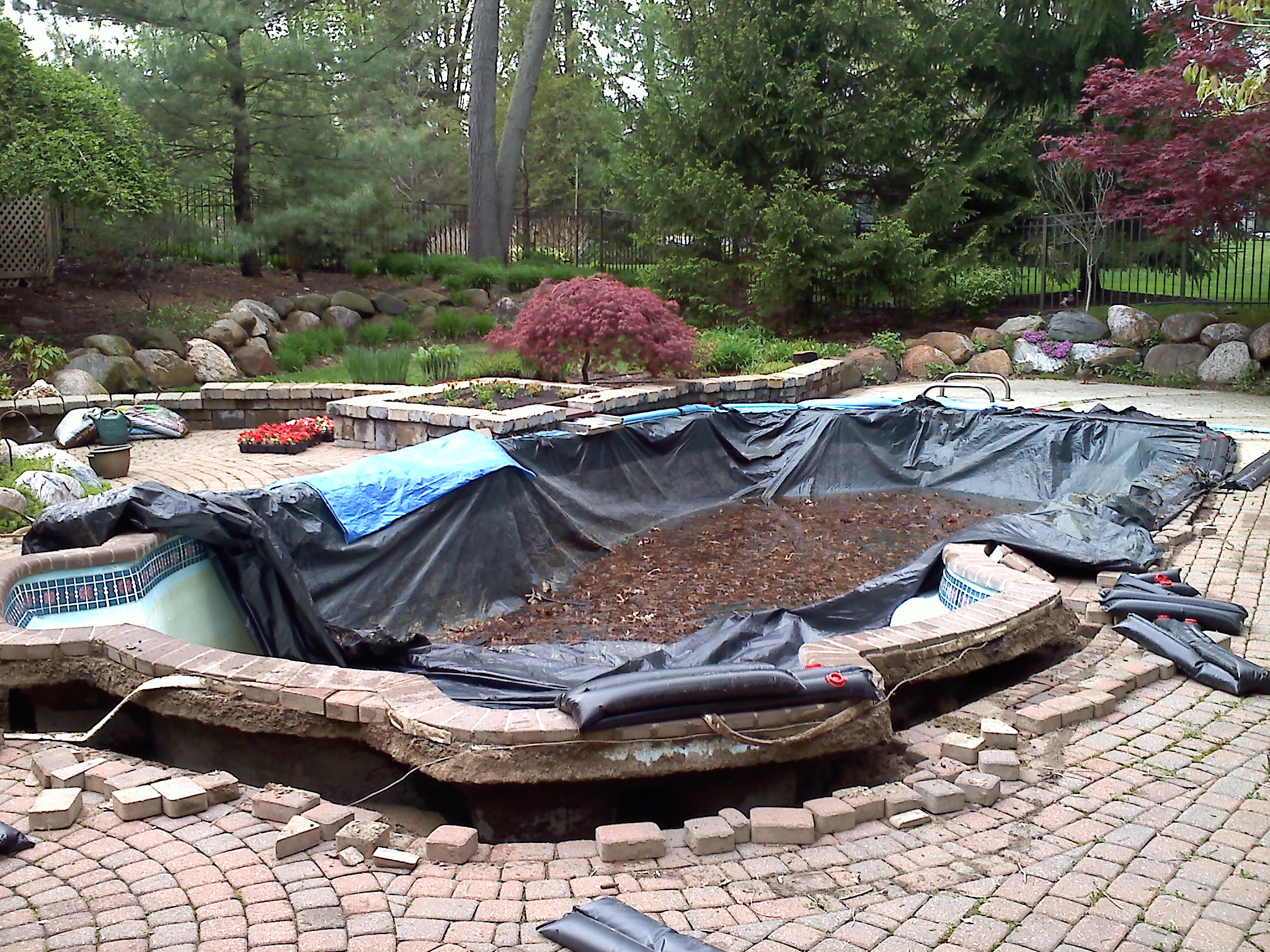 concrete patio – ask the pool guy