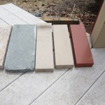 Bluestone Coping Slab (left) Brick Coping Stones (right)