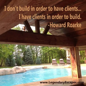 I don't build in order to have clients...