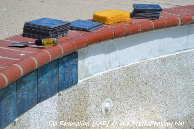 Tile Replacement On A Gunite Swimming Pool
