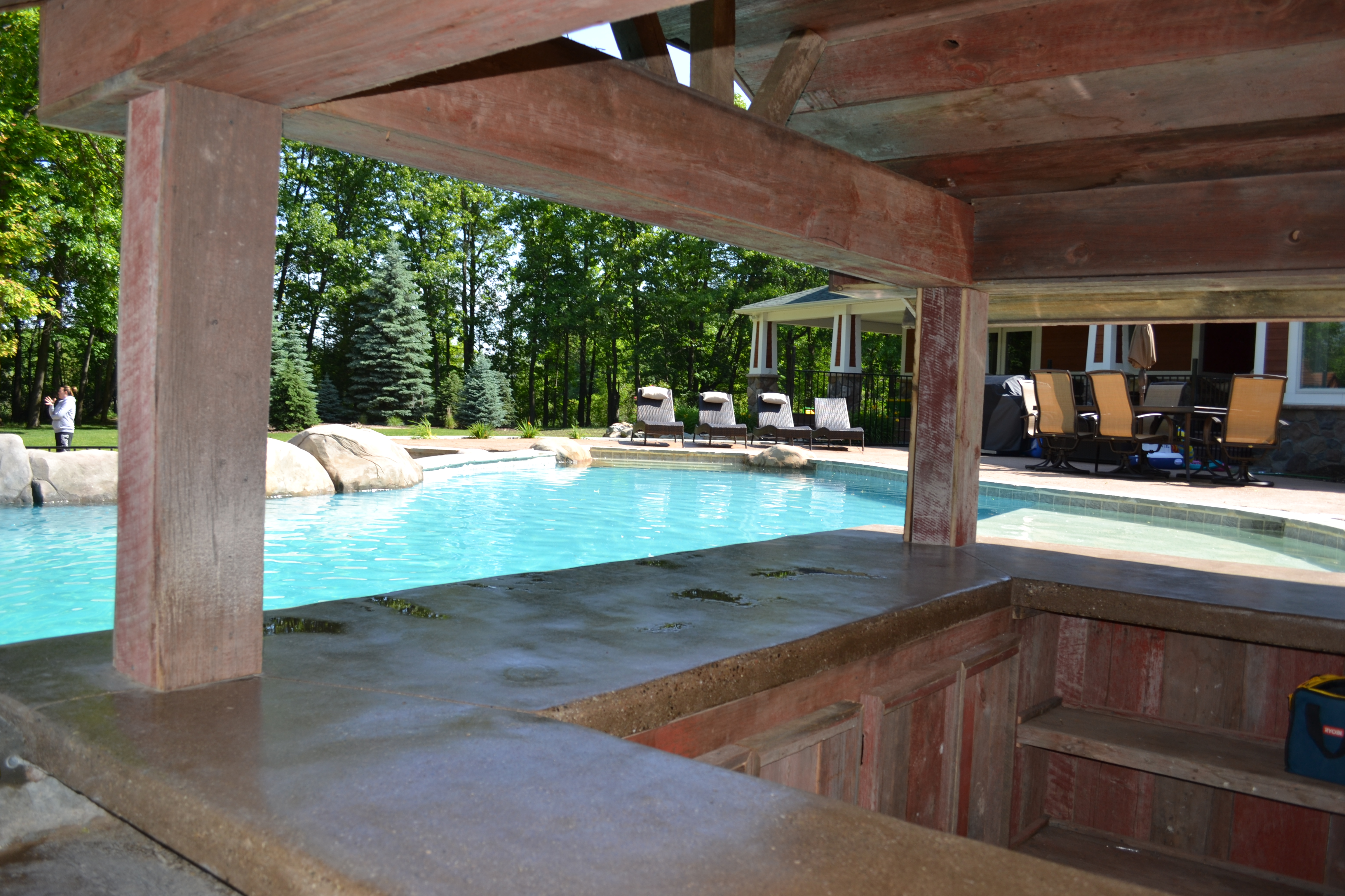 Custom Michigan Swimming Pool by Legendary Escapes