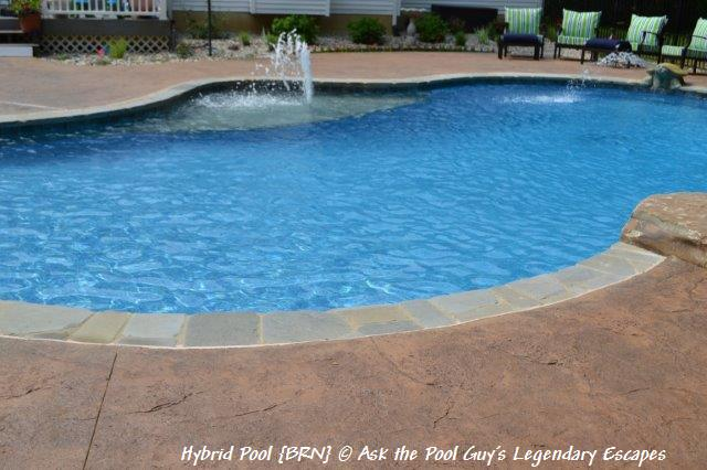 Hybrid Swimming Pool Brn Chelsea Mi Complete With A Raised Spillover Spa Sun Shelf With