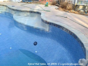 Ask the Pool Guy Building a Hybrid Pool in Chelsea Michigan. www.LegendaryEscapes.com