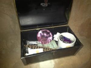 treasure chest opened