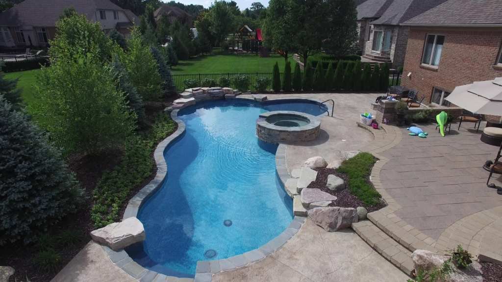 Shelby Township Michigan Hybrid Pool by Legendary Escapes